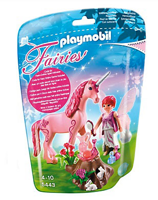 Playmobil Care Fairy with Unicorn Rose Red