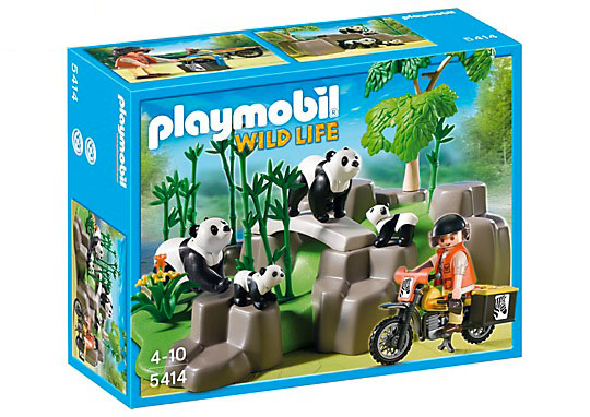 Playmobil Pandas in Bamboo Forest