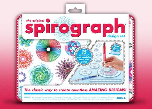 Spirograph Design Tin