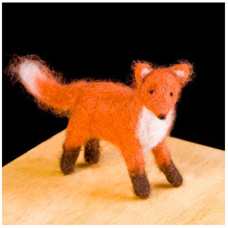Wool Pets Needle Felting Kit Fox