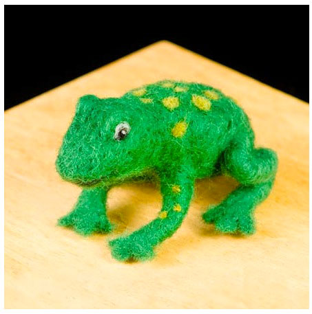 Wool Pets Needle Felting Kit Frog