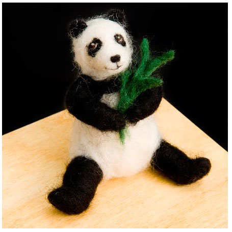 Wool Pets Needle Felting Kit Panda